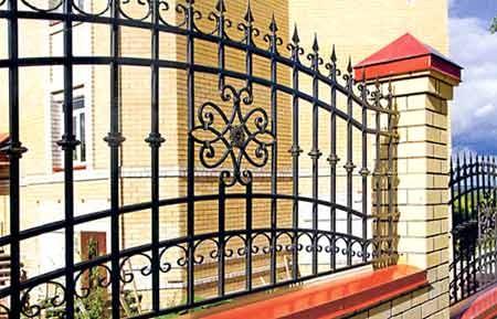Заборы, ворота и решетки(использовани е кованных элементов)