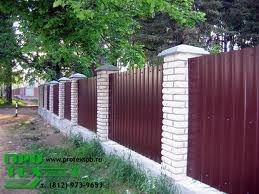 Заборы, ворота, калитки - изготовление и монтаж. Забор из профлиста (с материалами).