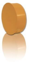Заглушка ПВХ для безнапорной внешней канализации D 110 мм