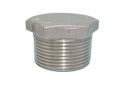 Заглушка с наружной резьбой из нержавеющей стали AISI 304, 316 Ду6-80