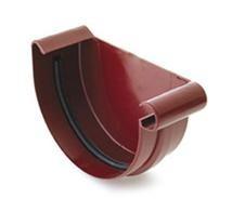 Заглушка желоба левая/правая водосточной системы BRYZA 150;белый, коричневый;диаметр 150 мм.