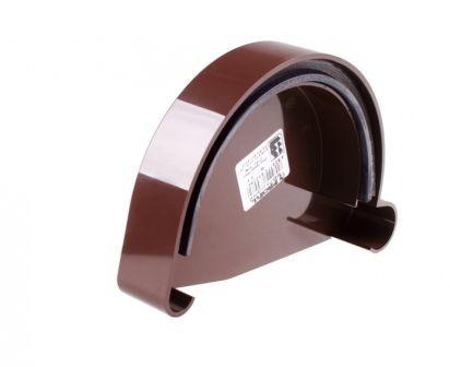 Заглушка желоба левая водосточной системы PROFIL 90/75;коричневый, белый;диаметр 90 мм