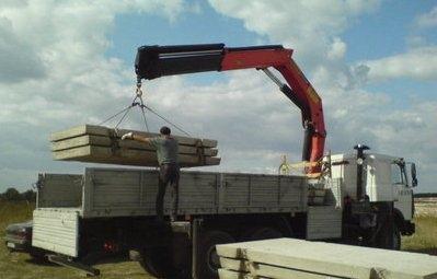Заказ крана-манипулятора для перевозка плит Днепропетровск.