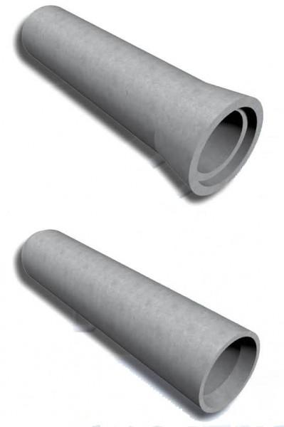 Залізобетонні труби різних діаметрів.