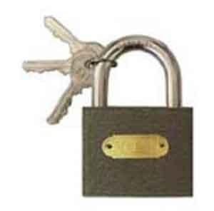 Замок навесной - 2 1. Размер (ДхВхШ) - 50х70х10 мм,2. Ключи - 3 шт.
