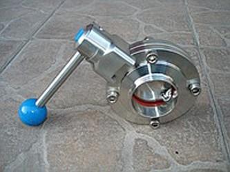 Заслонка дисковая нержавеющая AISI316 Ду50 Р-С