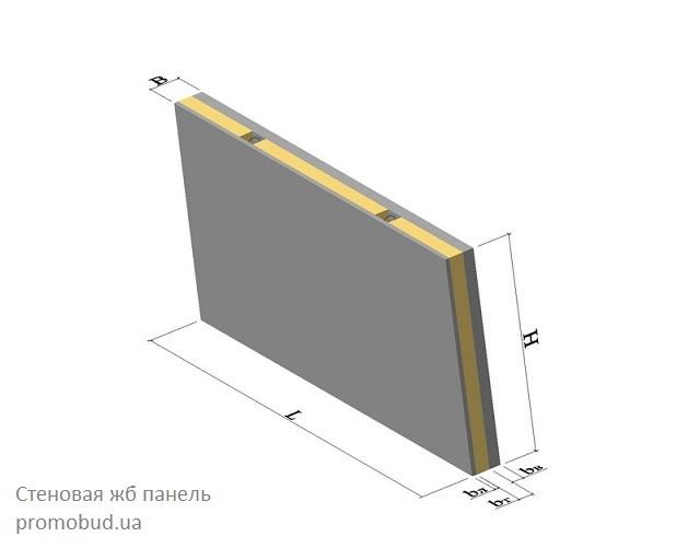 стеновая жб - панель - фото