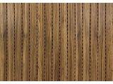 Фото  1 Акустические панели Decor Acoustic звукопоглощающая 2768 х320 х16.4мм с перфорацией под дерево Зебрано 2082471