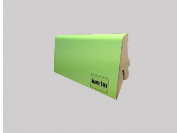 Плинтус МДФ Супер Профиль зеленый Размеры: 19*55*2800