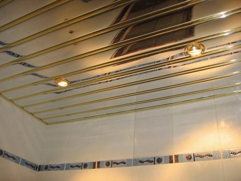 Зеркальные реечные алюминиевые потолки не боящиеся воды и влаги.