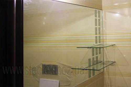 Зеркало с полочками (ванная комната)