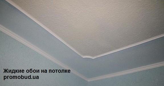 жидкие обои на потолке фото