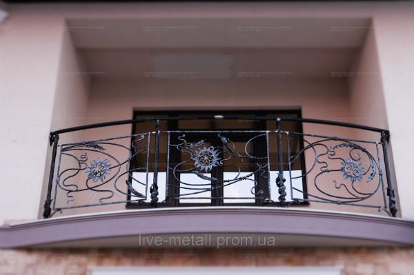 железные ограждения ручной ковки для балконов
