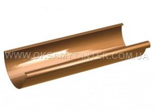 Желоб водосточный GALECO 135 ПВХ коричневый, белый, красный, графит