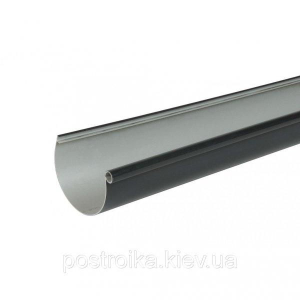 Фото  1 Желоб водосточный LG 25 115mm темно-серый черный 1757072