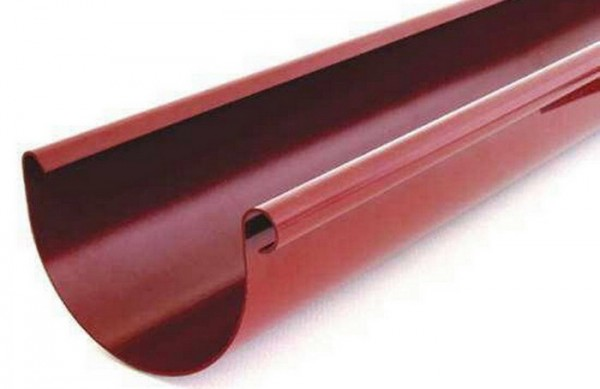 Желоб водосточной системы BRYZA 100;белый, коричневый;диаметр 100 мм; длина 3 м