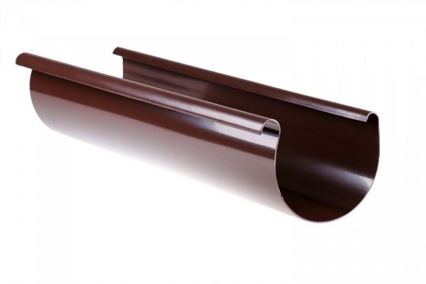 Желоб водосточной системы PROFIL 90/75; белый, коричневый;длина 3 м. ;диаметр 90 мм