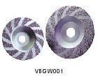 Жесткая вакуумная шлифовальная чашка VBGW001 для гранита и мрамора