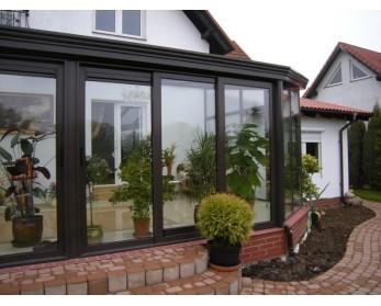 Зиминй сад, алюминиевая быстро возводимая конструкция с теплого и холодного профиля