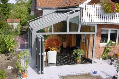 зимние сады, купола, навесы террас, двери «гармошка» - откр. . наружу и во внутрь и раздвижные двери