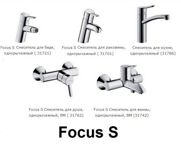 смесители Hansgrohe Focus S