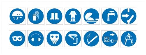Знаки предписывающие по Охране Труда
