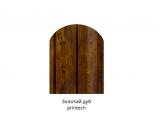 Фото  1 Металлический штакетник (евроштакетник) Золотой Дуб, полимер покрытие, двусторонний цвет, металл 0,43, ширина-13см 2358463
