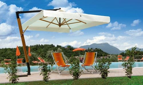Зонт консольный Палладио 3х3м для летней площадки. Зонты для кафе, садовые зонты.