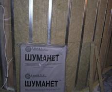 Звукопоглощающая плита из минеральной ваты Шуманет-БМ, звукоизоляция стен, потолка